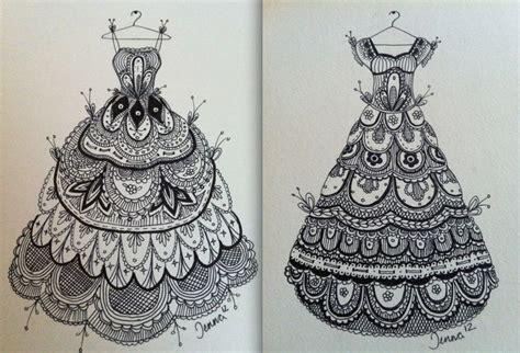 Dress Doodle lace dresses zentangle by mancini doodle zentangle
