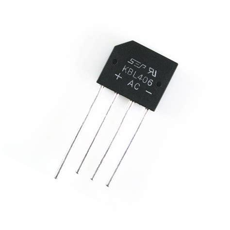 four diode bridge rectifier kbl406 bridge rectifier 400v 4a faranux electronics