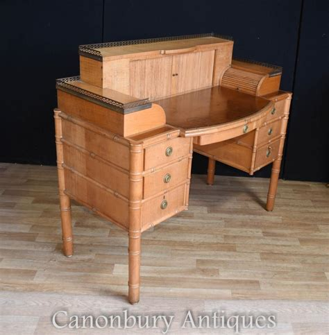 writing desk and chair set regency bamboo desk and chair set writing ebay