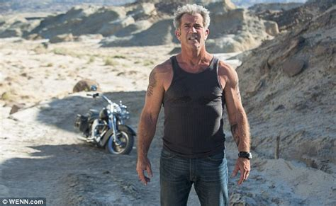 mel gibson shows off his tattooed muscles in upcoming film