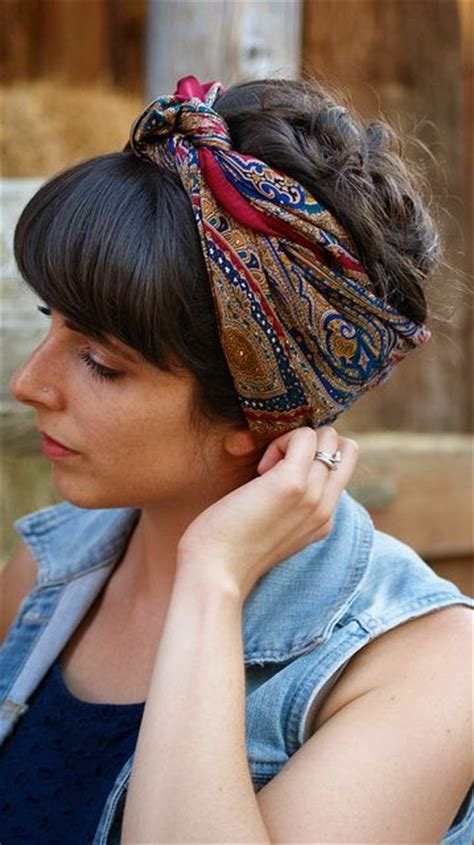 images of bob cut styled with bandanas latest trend to tie bandana with elegant hair styles