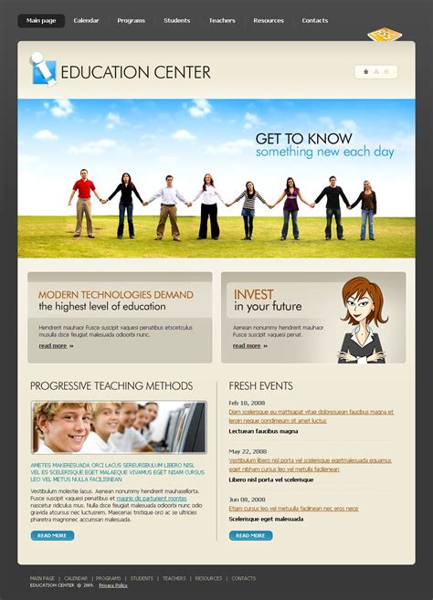 html templates for education website education website template 22750