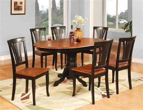 avon butterfly leaf table set black and cherry - Butterfly Leaf Dining Table Set