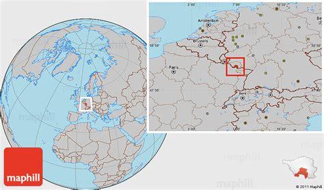 map of saarbrucken germany gray location map of saarbr 252 cken