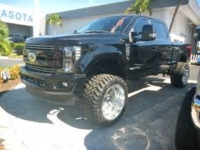 Lifted Truck Black Wheels 2017 Ford F 250 Diesel 4x4 Black On Blk Custom Truck 24