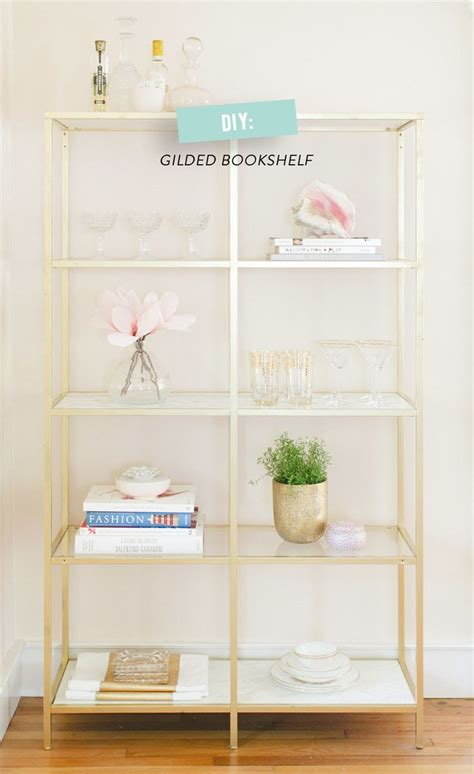 ikea bookshelf hack diy ikea gilded bookshelf read more http www