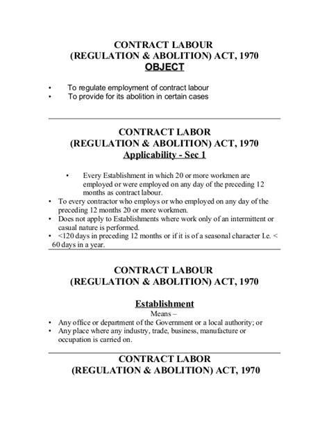 appointment letter contract labour act contract labour
