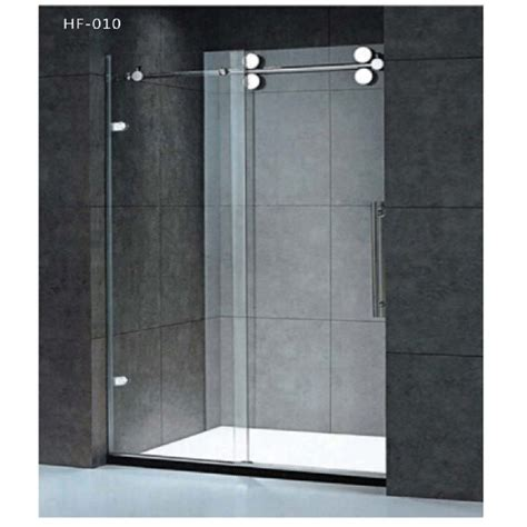 glass sliding bathroom door china bathroom shower unit with glass sliding door hf 010