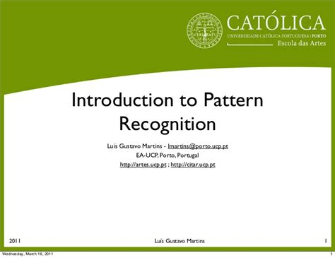 pattern recognition overview ppt introduction to pattern recognition