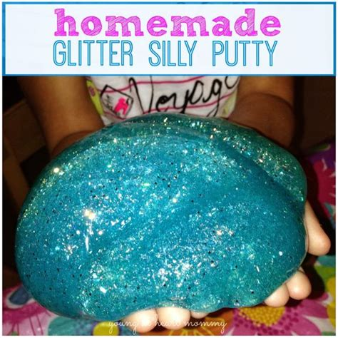diy silly putty without borax silly putty how to make and glitter on