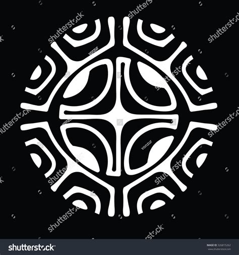polynesian tattoo logo marquesan cross symbol which used polynesian stock vector