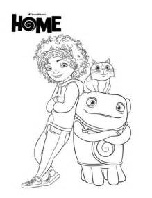home coloring pages home de nieuwe dreamworks tip oh en pig coloring