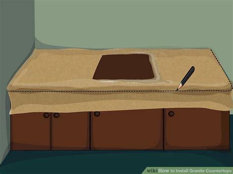 5 Ways To Install Granite Countertops Wikihow Countertop Template Material