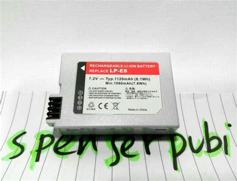 Baterai Kamera Canon 550d diskusi produk baterai battery baterei batere canon eos 550d 600d 650d 700d lp e8 murah tapi