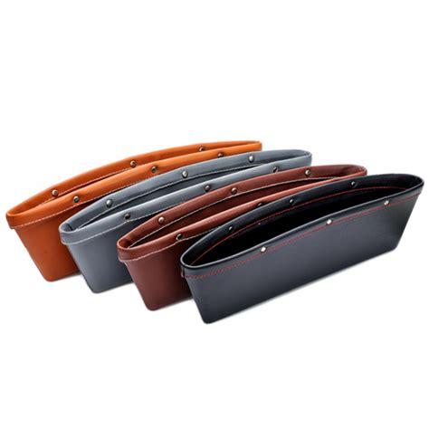 Auto Organizers Seat Holder Gap Pocket 2 Pcs T3010 3 2pcs creative car storage box leather auto car seat gap