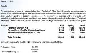 Financial Aid Acceptance Letter Exle Are These Financial Aid Letters Misleading