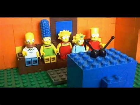 lego simpsons couch lego the simpsons couch gag 7 youtube