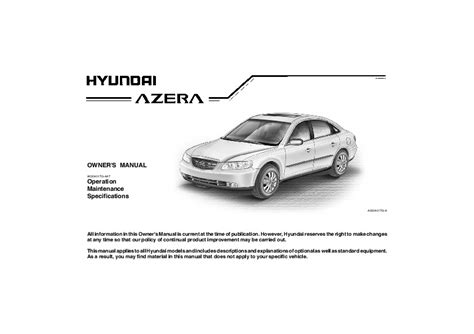 service manual pdf 2007 hyundai azera transmission service repair manuals 2007 hyundai 2007 hyundai azera owners manual