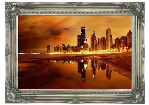 wall murals chicago chicago late evening architecture mural printed wall mural