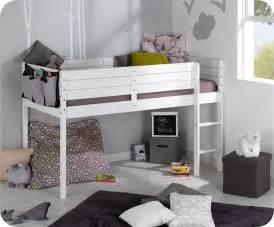lit enfant mi hauteur tamis blanc 90x190 cm