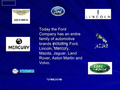 Ford Motor Company Brands by Fords The History Of Ford Motor Company