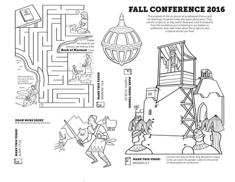 conference coloring pages lds two sided one page coloring sheet for fall conference