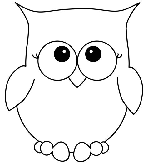 template of owl owl coloring pages to print owl clip