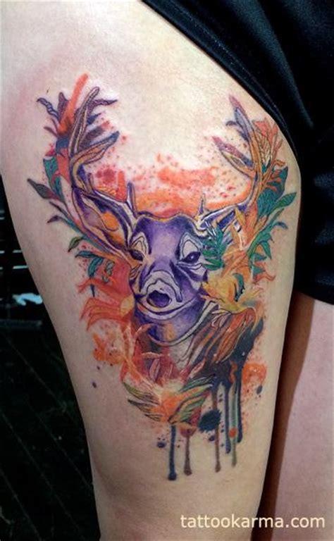 watercolor tattoo vs regular tattoo traditional elk www pixshark images