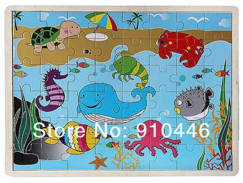 los animales marinos marine 8467535709 1set marine animal puzzle children intelligence puzzle toys playful pets jigsaw k0852 in 1set