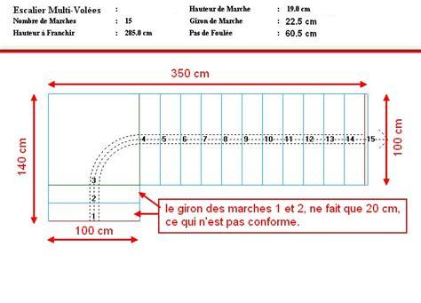 Largeur D Une Marche D Escalier by Calcul Escalier Limon Central Avec Palier Bas 1 4 Tournant