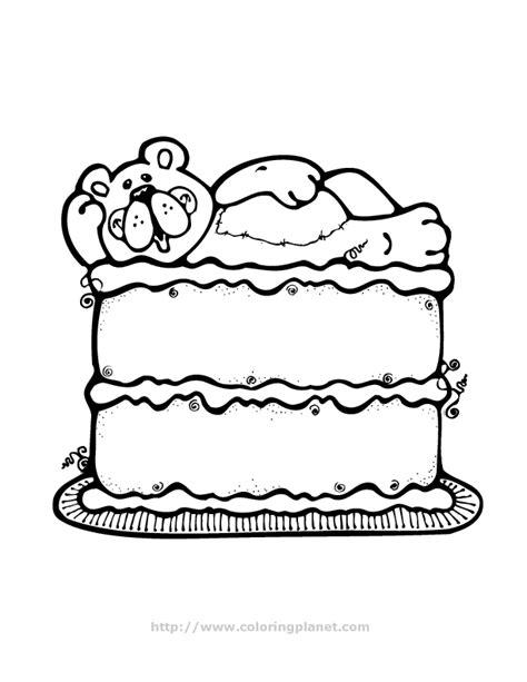 princess birthday cake coloring page princess birthday cake coloring page images pictures