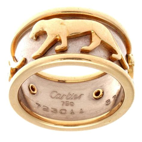 Get The Look Camerons Panther Ring by Cartier Walking Panthere Gold Ring At 1stdibs