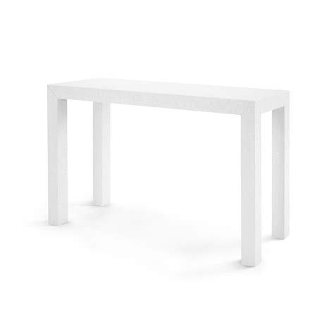 bungalow  parsons console table white clayton gray home