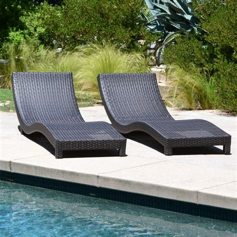 Chaise Lounge Chair Cushions Outdoor by Coast Modern Living Outdoor Chaise Lounge Chairs W Cushions