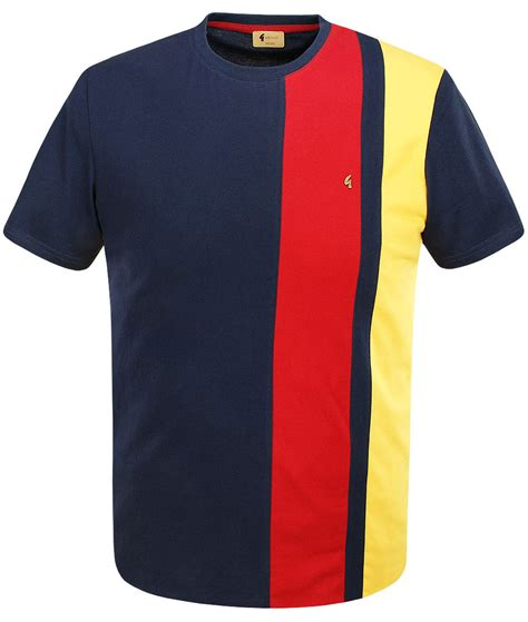 T Shirt Stripe by Gabicci Vintage Navy Kingston Stripe T Shirt Modfellas