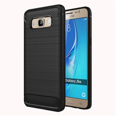 Samsung Galaxy J5 2016 Rugged Shock Proof Armor Hybrid Soft for samsung galaxy j5 2016 j510 brushed texture fiber tpu rugged armor protective
