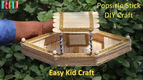 boat making easy kid craft popsicle stick boat making craft