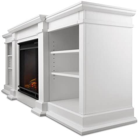 white electric fireplace media console real fresno 71 inch electric fireplace media console white gas log guys