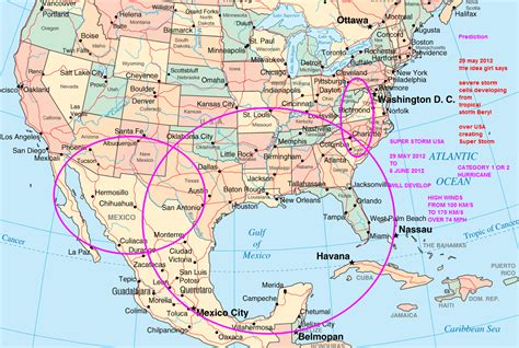 map of mexico and america prediction of 29 may 2012 to 6 june 2012 usa