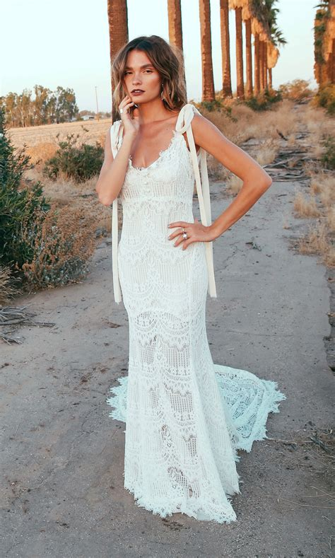 Wedding Dress by O Keeffe Backless Lace Bohemian Wedding Dresses Open