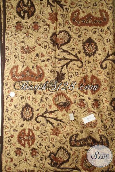 Kain Batik Sogan Jawa Premium 002 batik klasik wahyu tumurun kain batik premium buatan pewarna alam batik jawa bahan busana