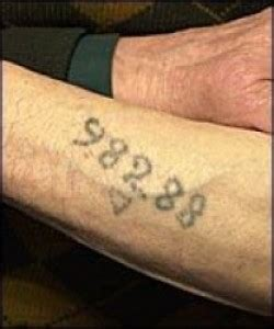 tattoo numbers holocaust infamous auschwitz tattoo began as an ibm number the