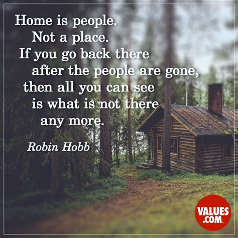 home is not a place if you go back there after