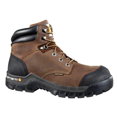 carhartt rugged flex 6 work boots leather s carhartt rugged flex s 12w brown leather waterproof