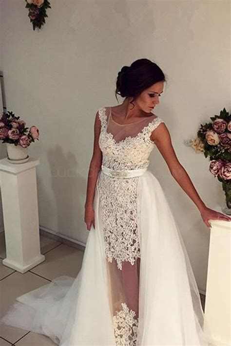 Sleeveless Lace Tulle Dress lace tulle sleeveless wedding dresses bridal gowns 3030299