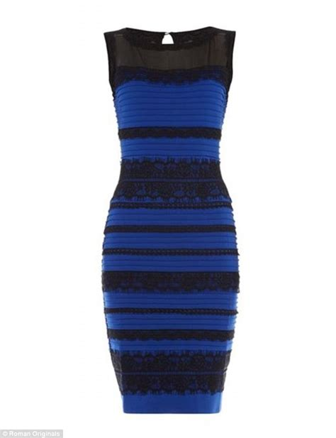 color of the dress white and gold dress really is black and blue daily mail