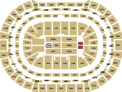 pepsi center seating chart concert concert seating end stage pepsi center