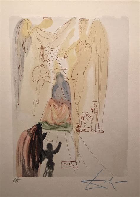 libro salvador dali 1904 the garden of christ paradise canto 23 by salvador dali sold art encounter