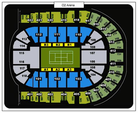 O2 Floor Plan by O2 Arena London Seating Plan Detailed Seat Numbers