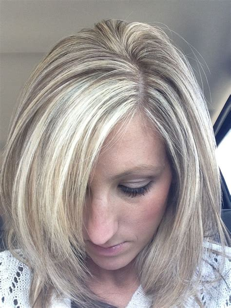 chunky blonde highlights for grey hair image result for chunky lowlights blonde hair bob